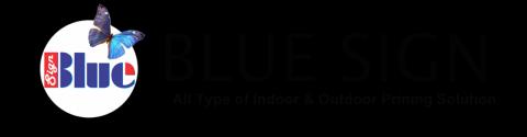 Blue Sign Print