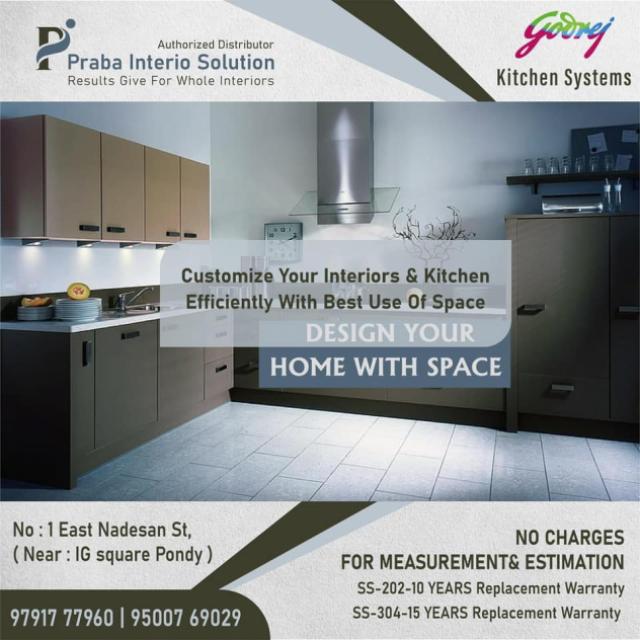 Home Interiors by Praba Interio Solutions Pondicherry